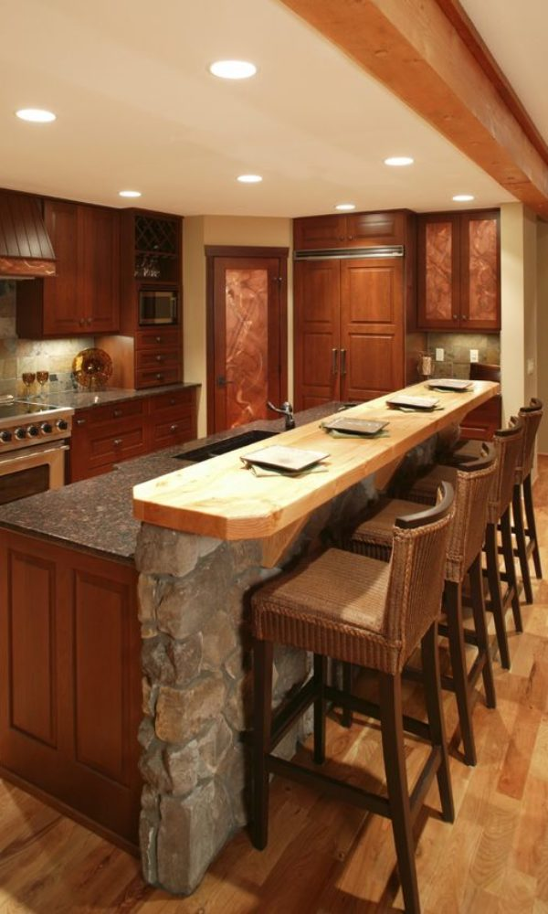 kitchen counter chalet